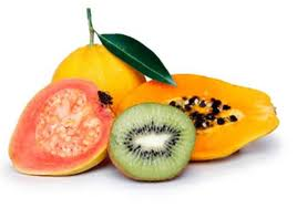 citrus fruits, kiwis, mangos and papayas are rich in vitamin C