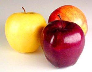 three types of apples
