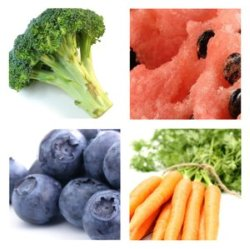 4 types of fruit and veg