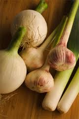 garlic, onions and leeks are natural sources of prebiotics