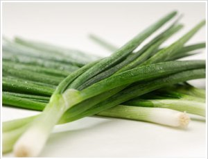 spring onions, or scallions, are also good for heart disease