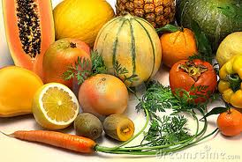 orange fruits and vegetables